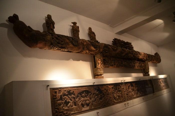 Poutres sculptées - Jardin Gufeng - Tongli
