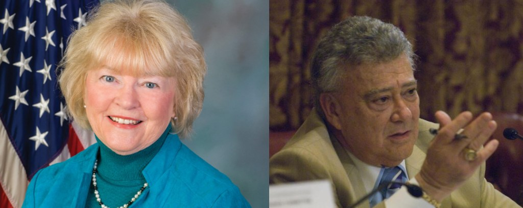 Pennsylvania Insurance Committee Chairwoman Tina Pickett (R) and Minority Chairman Anthony DeLuca (D) are shown. (Provided by Reps. Tina Pickett and Anthony DeLuca)