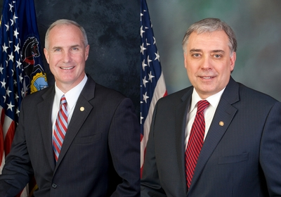 Pennsylvania state Reps. Tom Murt, left, and Mike Tobash, both Republicans. (Provided by Pennsylvania Legislature)