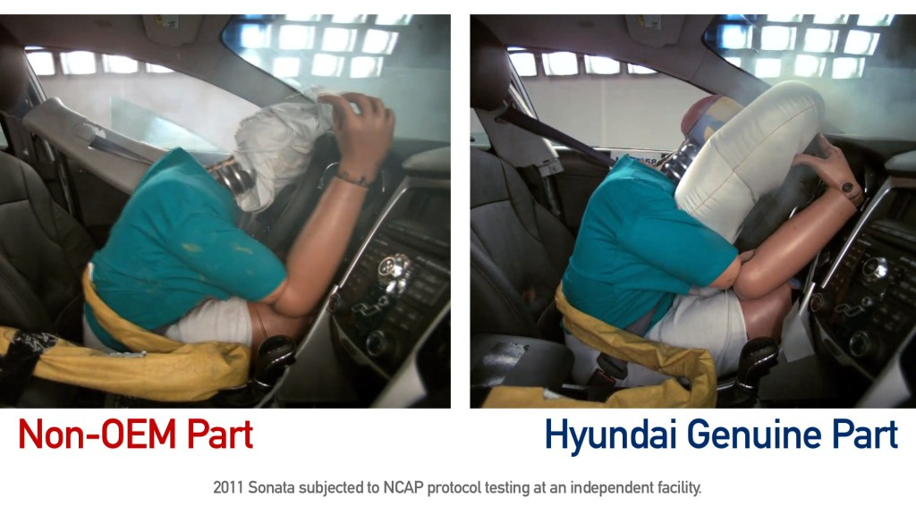 Right on the heels of the PARTS Act hearing in Congress, Hyundai on Wednesday formally announced a new email and video ad campaign touting the benefit of OEM parts. (Provided by Hyundai)