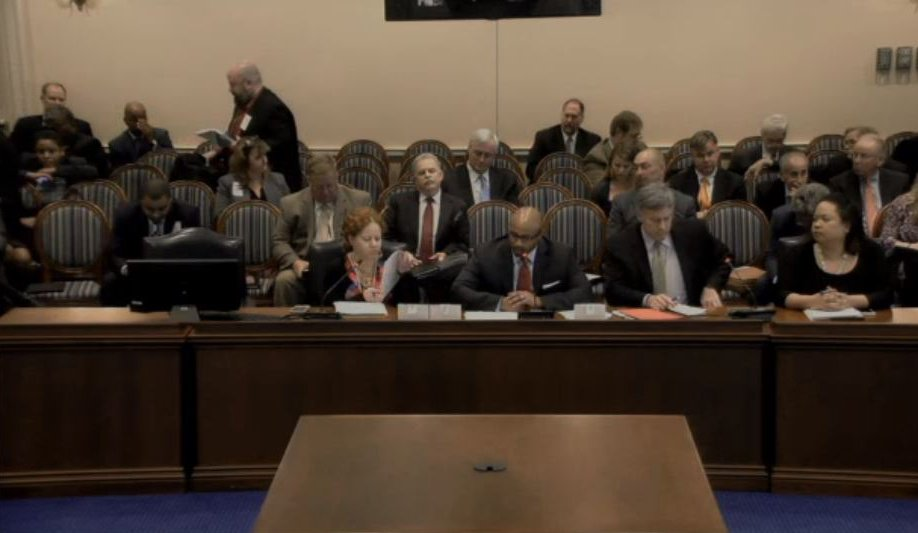 A panel of representatives from the insurance industry offered opposition to Maryland House Bill 1258 on March 10. (Screenshot from Maryland House video)
