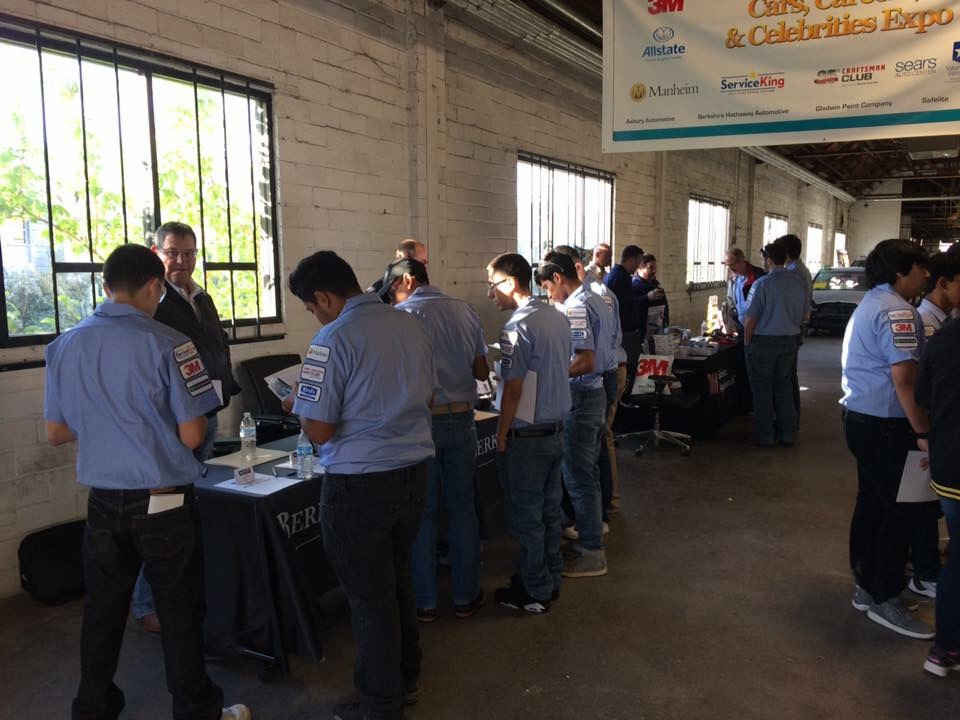 A Collision Repair Educational Foundation career fair is shown. (Provided by CREF)