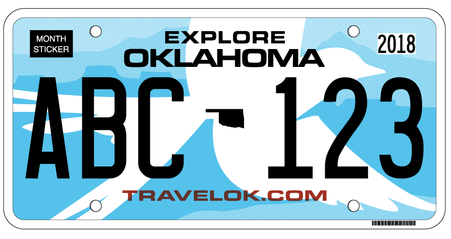 Republican Gov. Mary Fallin on Monday announced a new, distinctive Oklahoma license plate that all motorists must obtain -- and show proof of auto insurance to do so. (Provided by Oklahoma Governor's Office)