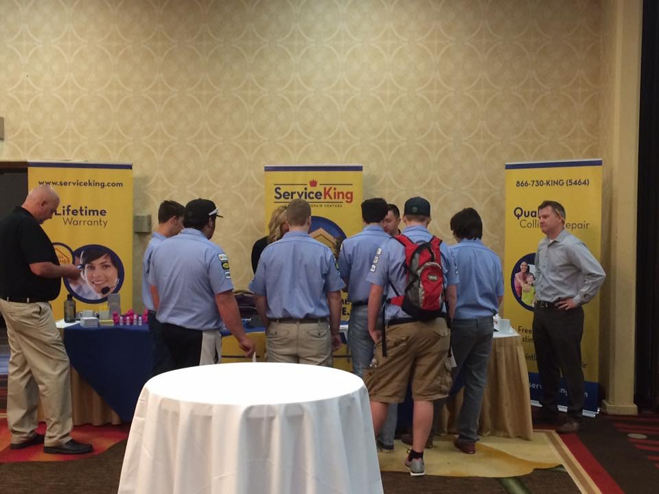 Students attend a Collision Repair Education Foundation job fair in Seattle, Wash. (Provided by CREF)