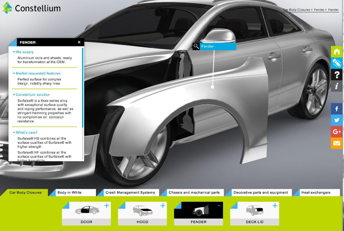 Slick Constellium 3D interactive shows auto body parts it can make ...