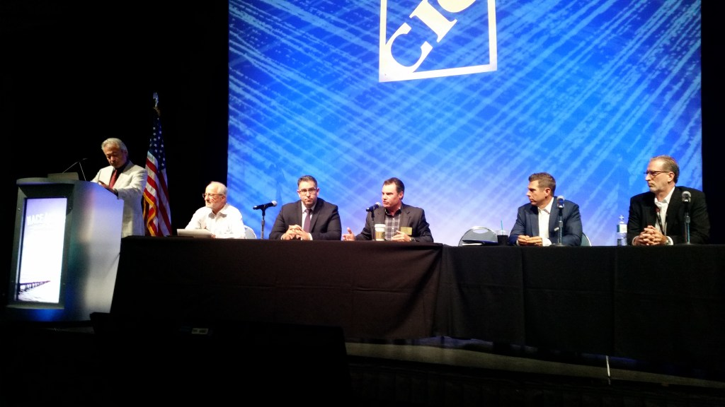 """Collision Industry Conference Parts and Materials Committee members discussed """"Opt-OE"""" parts in August 2016 during NACE. (John Huetter/Repairer Driven News)"""