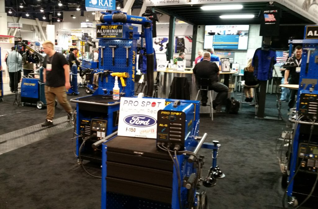 The Pro Spot booth is shown at SEMA 2015. (John Huetter/Repairer Driven News)