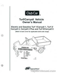 Club Car Turf  Carryall Owners Manual