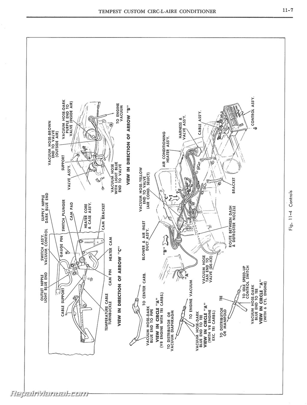 Pontiac And Tempest Air Conditioning Manual