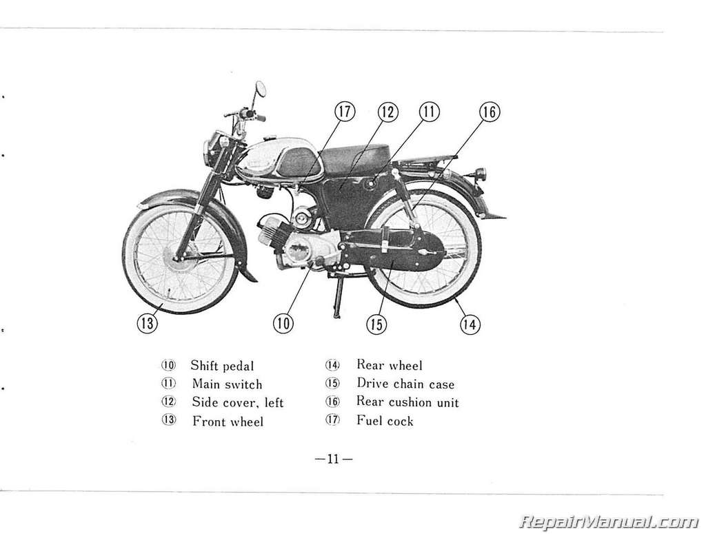 Yamaha Yg1k Motorcycle Owners Manual