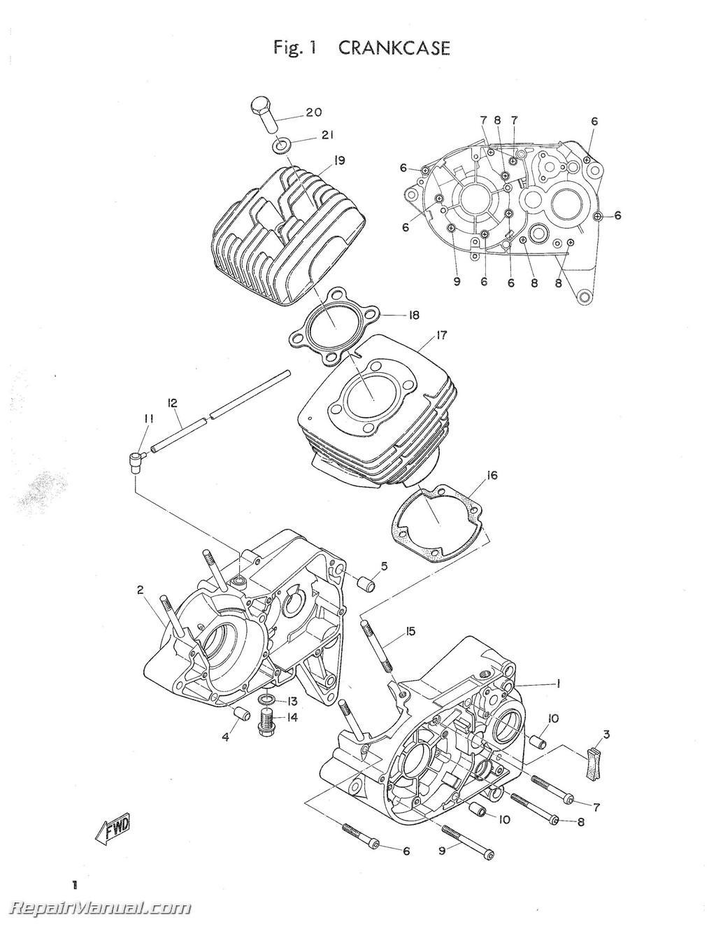 Yamaha G16 Engine Service Manual