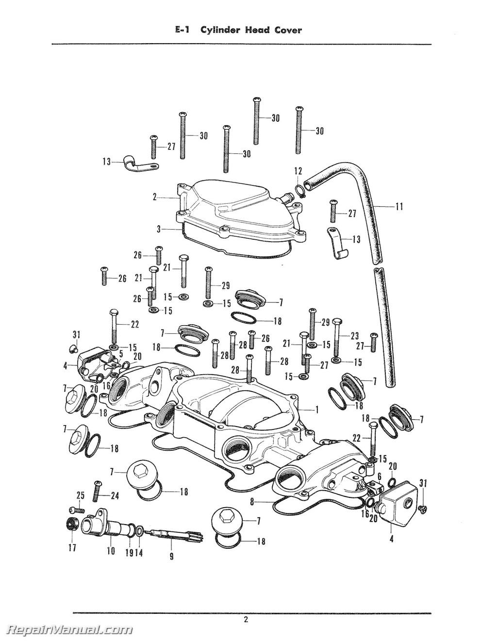 Honda Cb500k Cb500k1 Four Cylinder Parts Manual