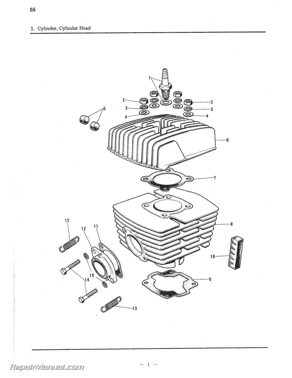 Kawasaki G5 100cc Parts Manual