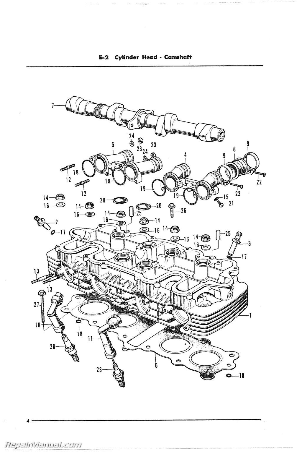 Honda Cb500 Four Cylinder Motorcycle Parts Manual
