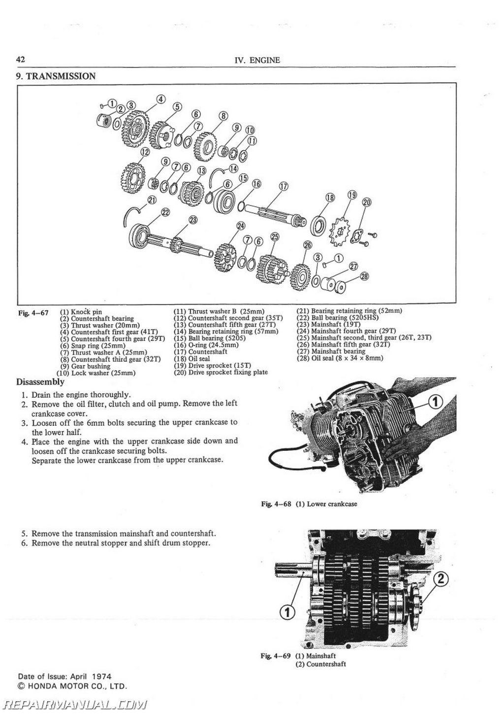 Honda Cb500t Motorcycle Service Manual