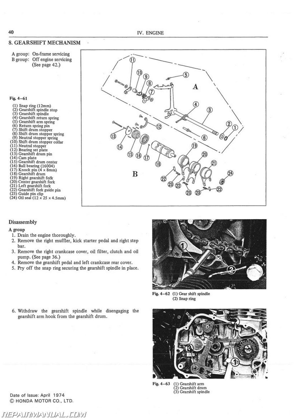 Honda Cb500t Service Manual