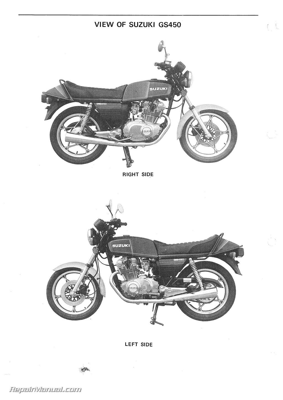 Suzuki Gs450 Motorcycle Service Manual