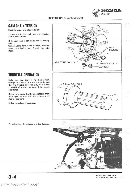 Honda Z50r Motorcycle Service Manual