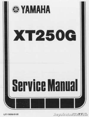 19801982 Yamaha XT250 Motorcycle Repair Service Manual