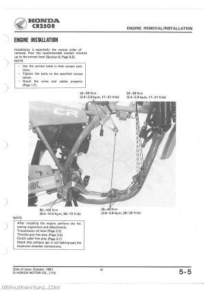 19821983 Honda CR250R Service Manual