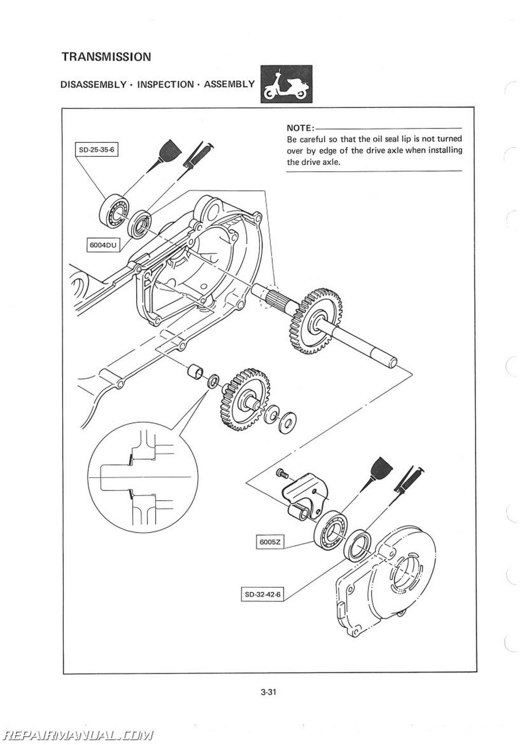 Yamaha Cv80k Riva Scooter Service Manual