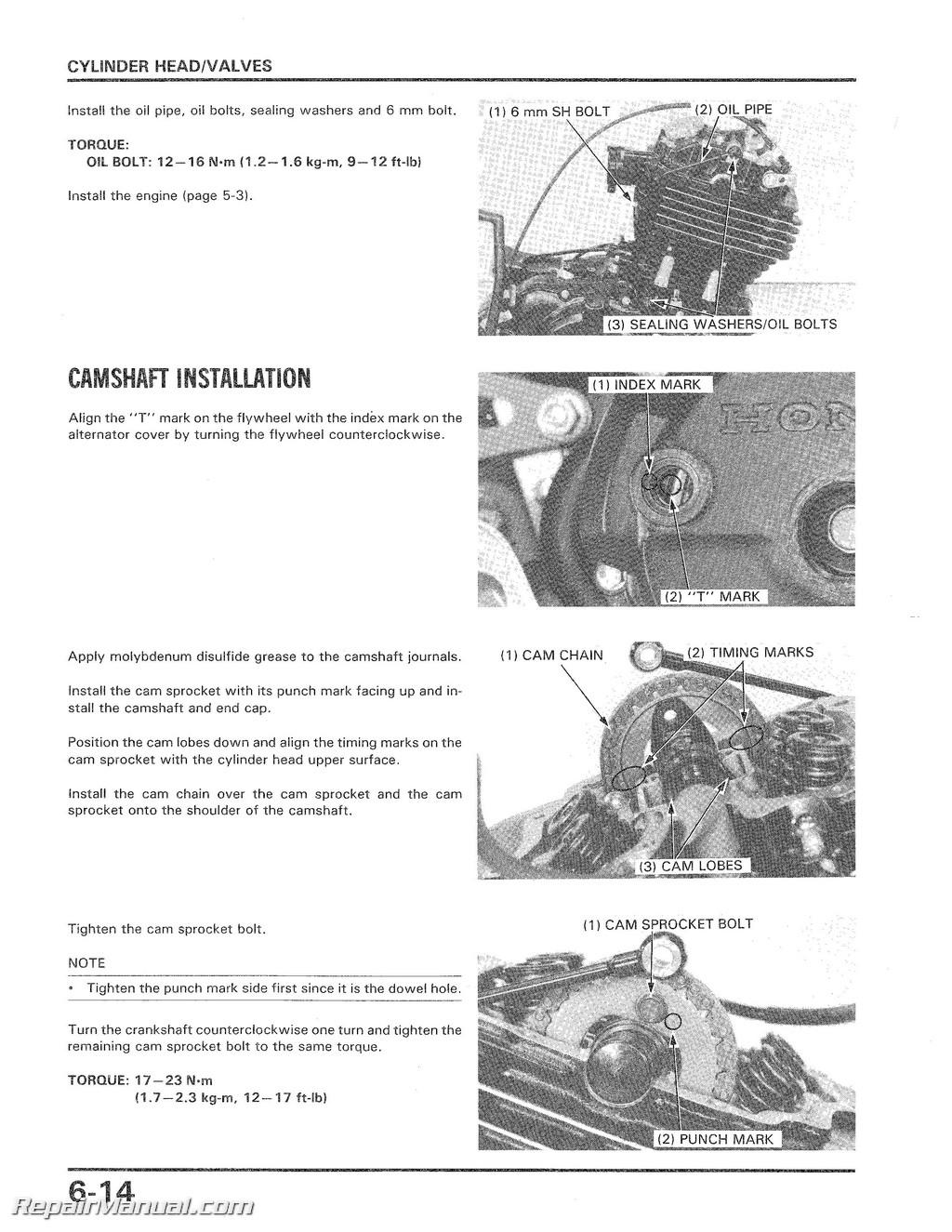 Honda Atc350x Service Manual