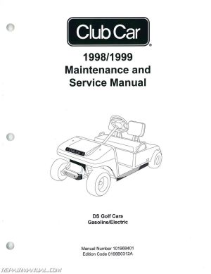 19981999 Club Car DS Golf Car Service Manual