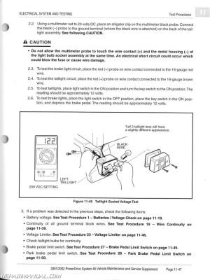 20012002 Club Car PowerDrive System 48 Maintenance And Service Manual Supplement