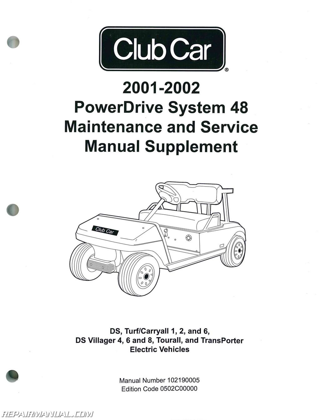 Club Car Powerdrive System 48 Maintenance And