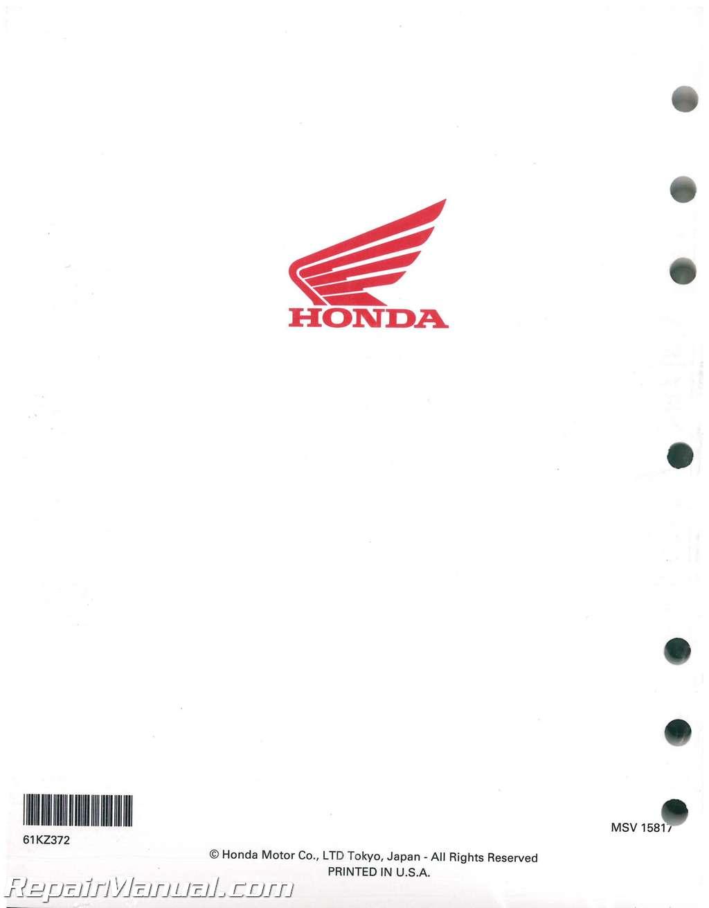 Honda Cr250r Service Manual Shop Repair 02