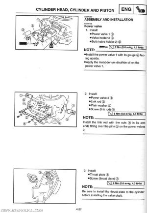 2002 Yamaha YZ250 Motorcycle Owners Service Manual : LIT