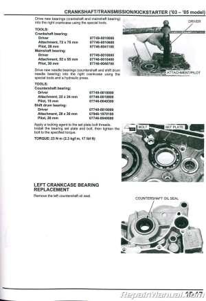 20032017 Honda CRF150F Motorcycle Service Manual