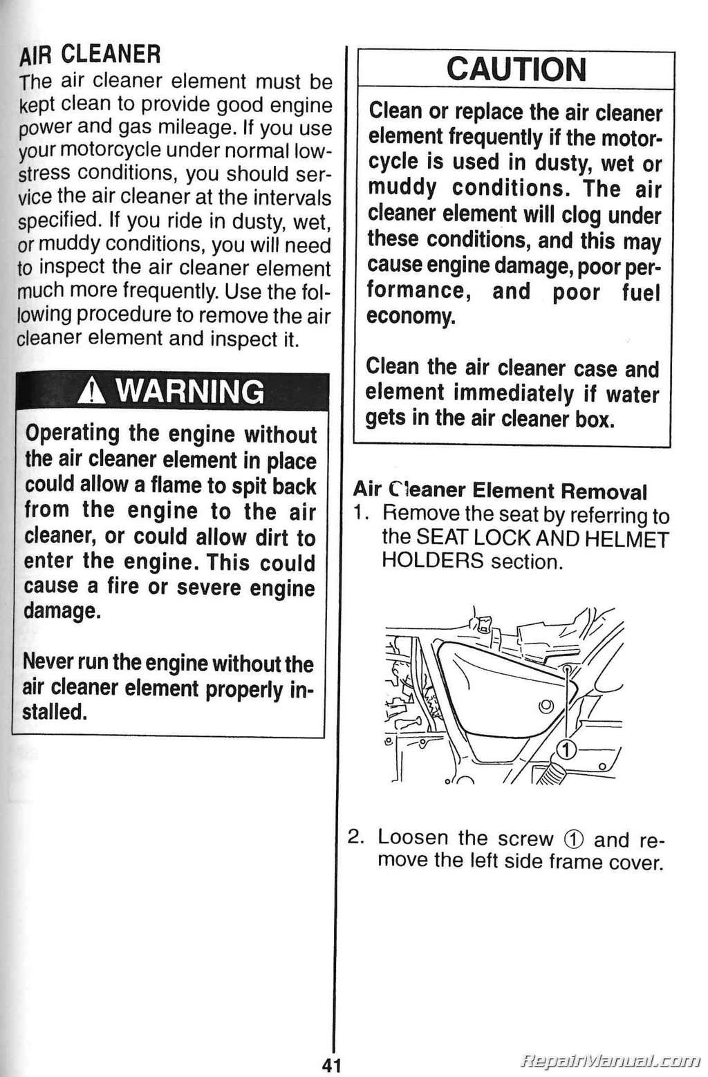 Suzuki Gz250 Owners Manual