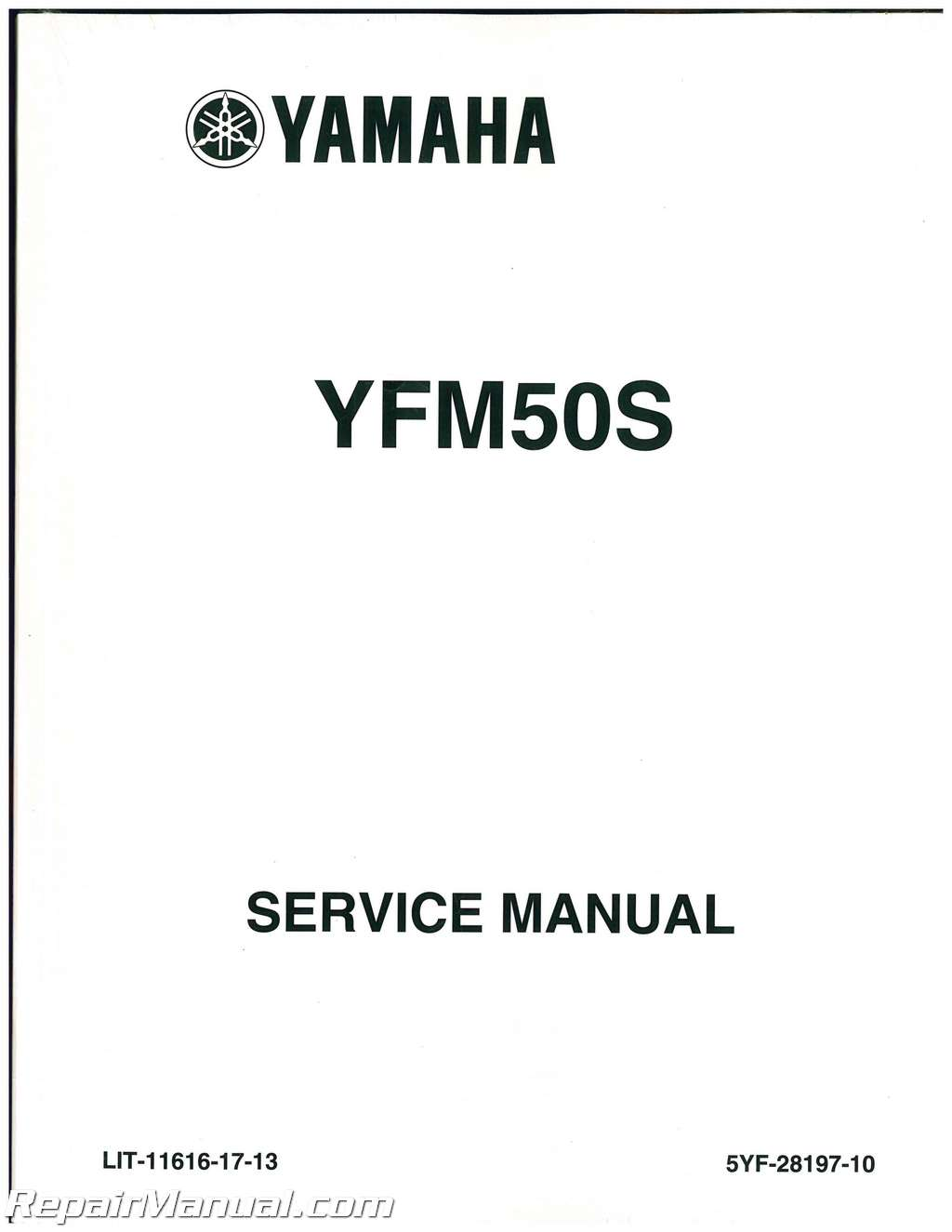 Yamaha Yfm50 Raptor Service Manual
