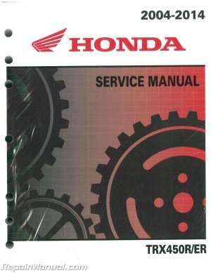20042014 Honda TRX450R ER Sportrax ATV Service Manual : 61HP108   eBay