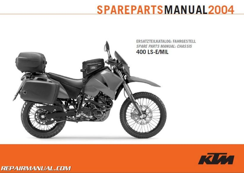 2004 ktm 400 ls e mil chassis spare parts manual