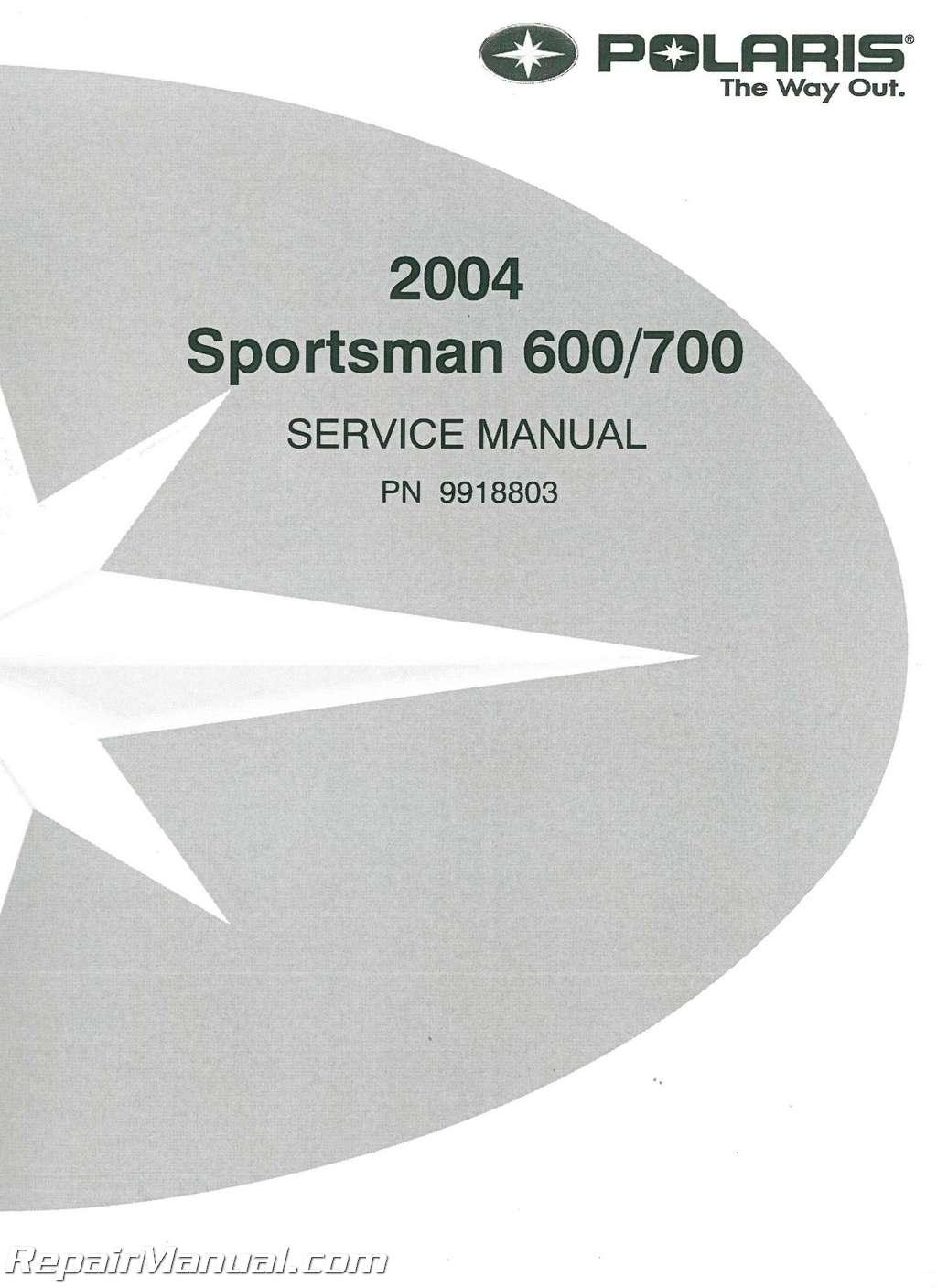 2004 Polaris Sportsman 600 Manual