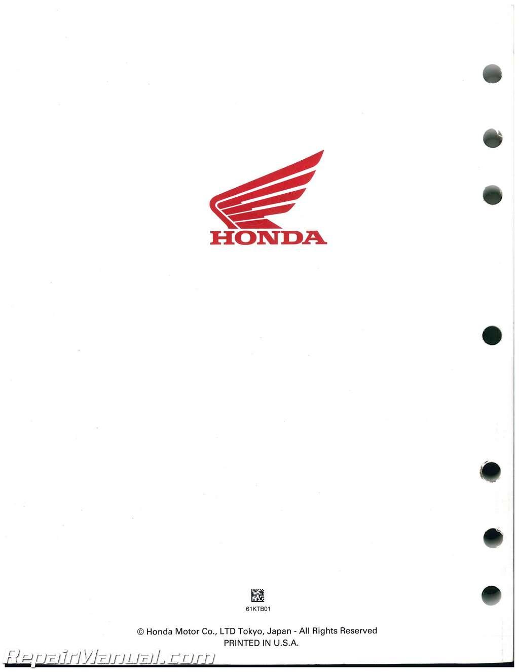 Honda Ps250 Big Ruckus Scooter Service Manual 61ktb01