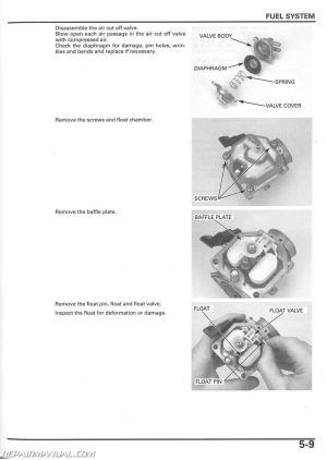 20052014 Honda TRX250TE TM Recon Service Manual