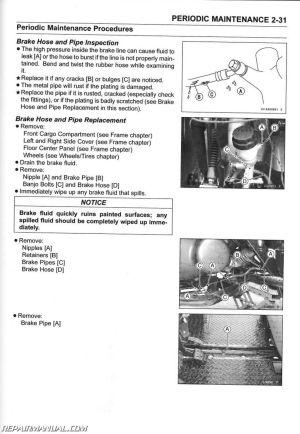 20052016 Kawasaki KAF400 UTV Mule 610 4×4 600 Service Manual
