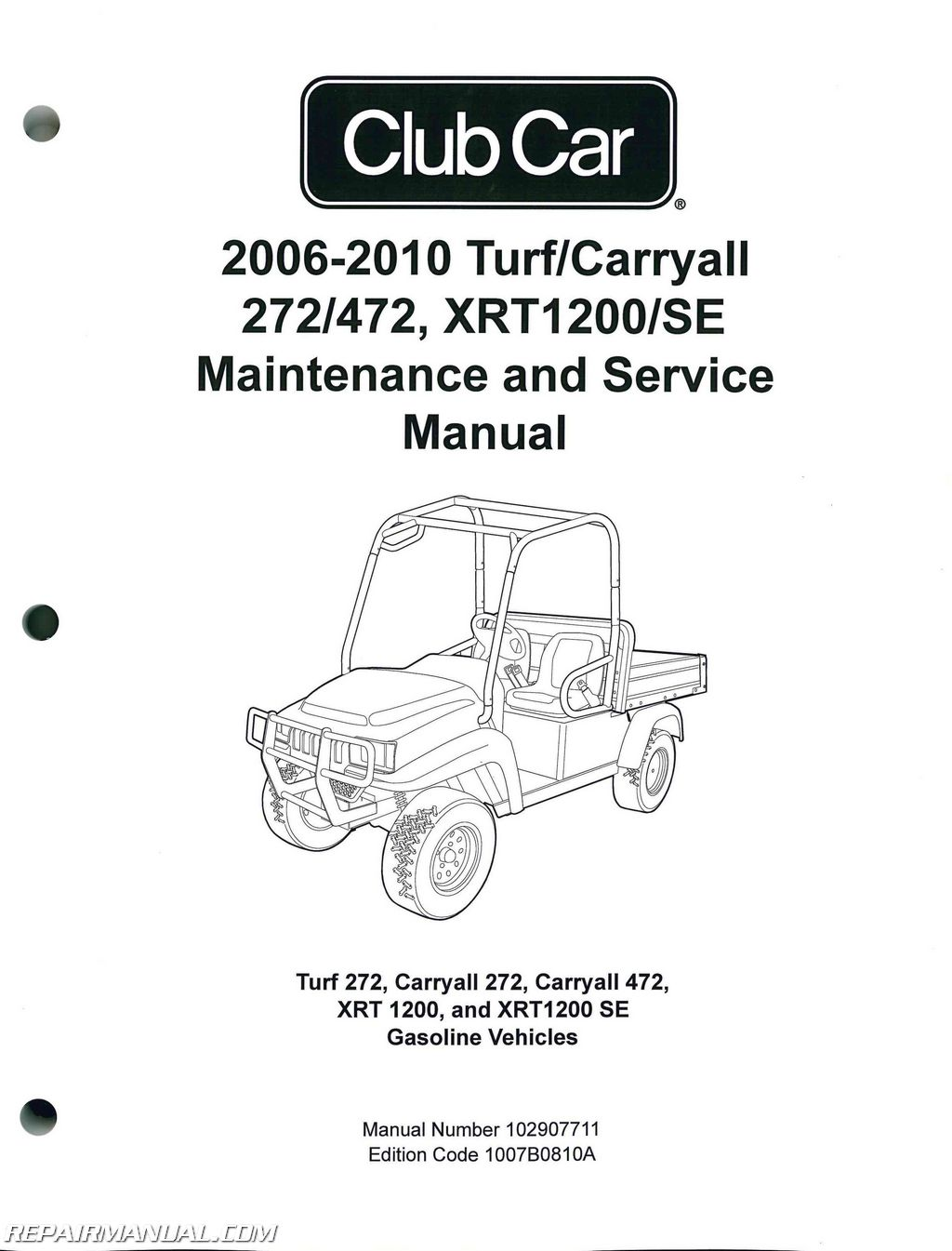 Club Car Turf Carryall 272 472 Xrt Se Turf