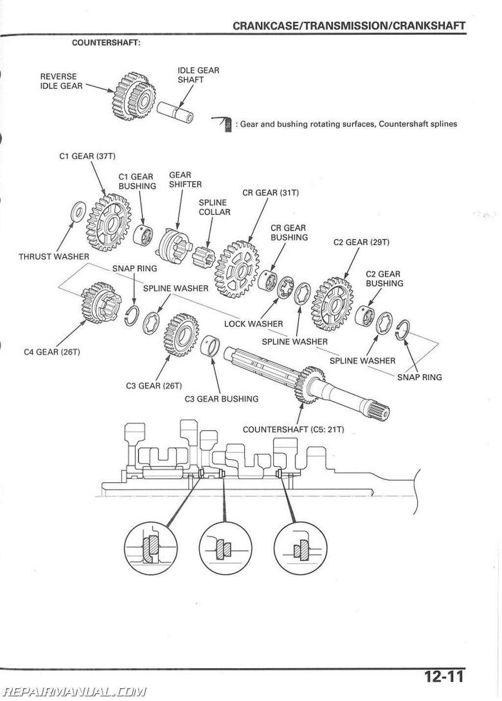 Honda Trx250ex X Sportrax Service Manual