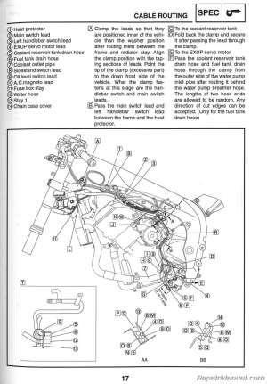 2006 Yamaha YZFR1 Motorcycle Service Manual