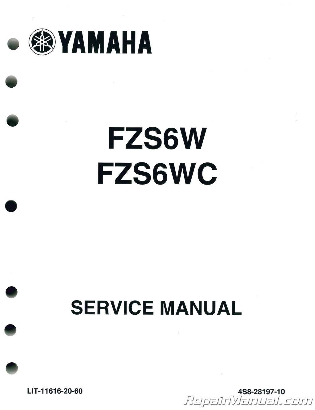 Yamaha Fz 6 Service Manual