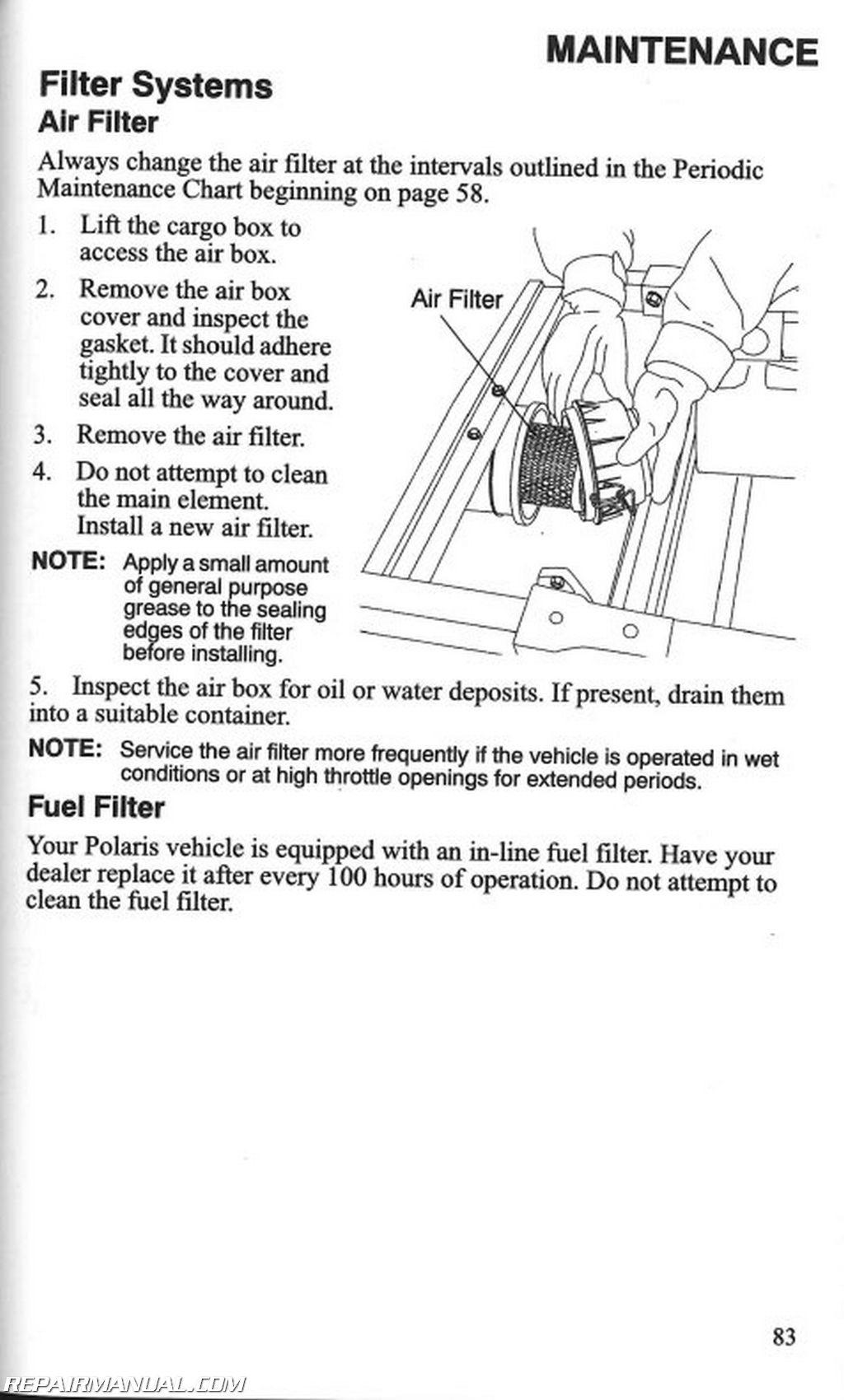 Polaris Ranger 500 Efi Owners Manual