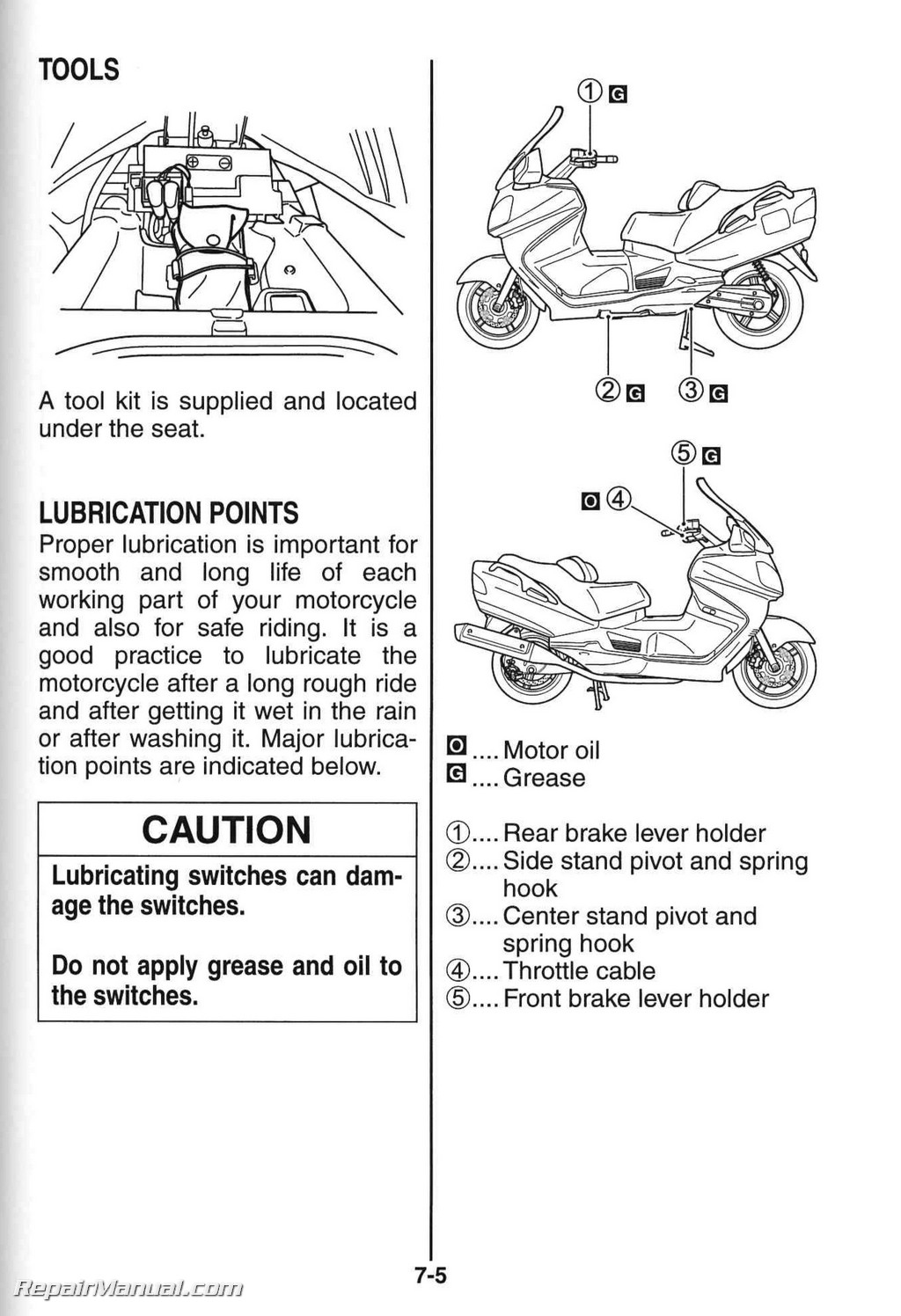 Suzuki An650k7 Burgman Scooter Owners Manual
