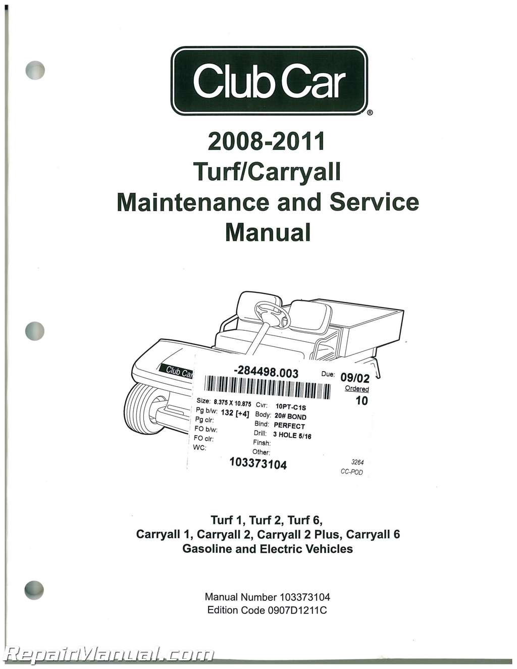 Club Car Turf Carryall Turf 1 Turf 2 Turf 6