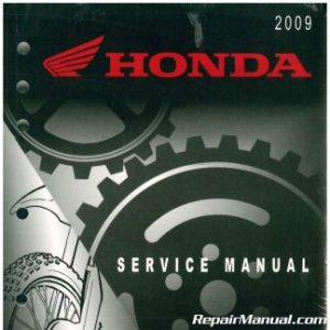 20092016 Honda CRF450R Motorcycle Service Manual