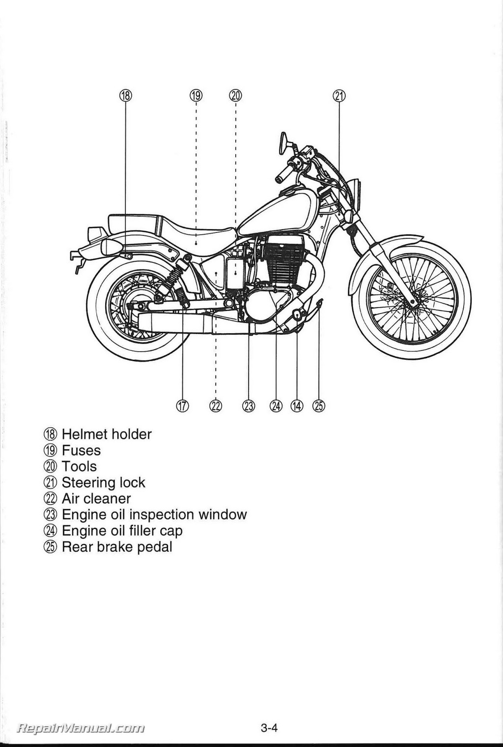 Suzuki Boulevard S40 Ls650 Motorcycle Owners Manual