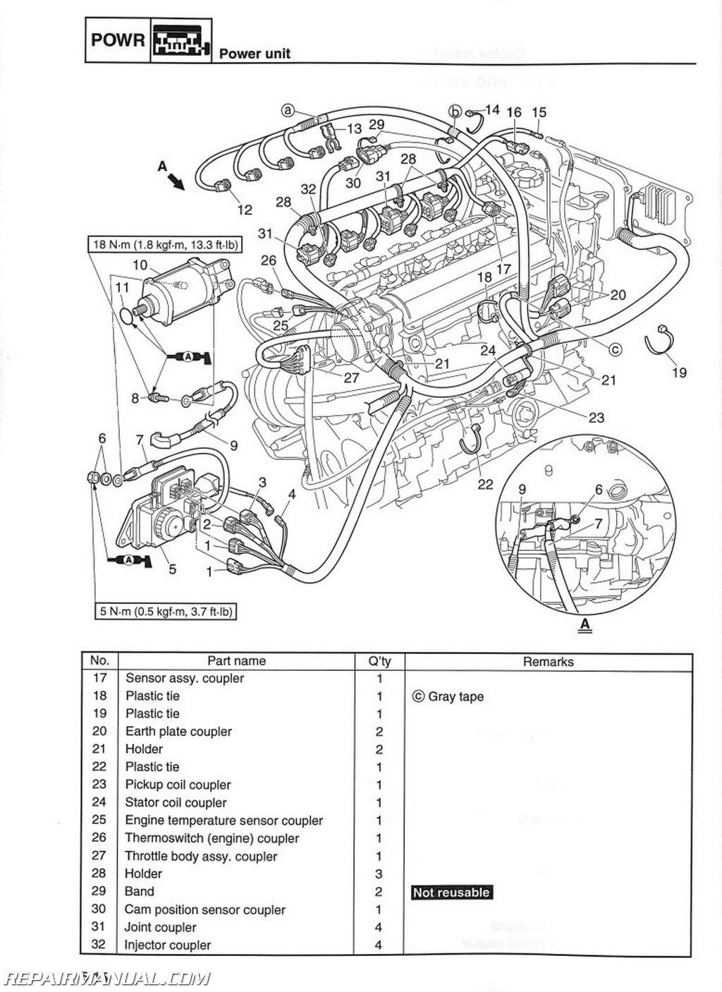 Yamaha Warrior Wiring Harness